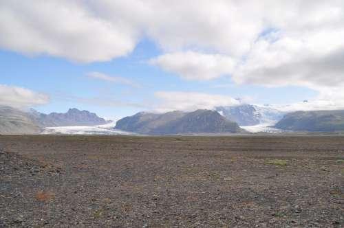 Iceland Glacier Skaftafell Ice Landscape