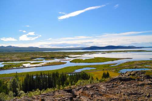 Iceland Pingvellir Landscape Nature