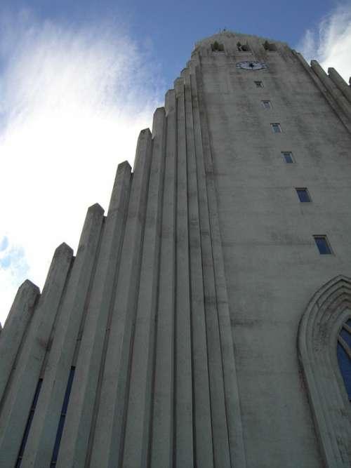 Iceland Church Low Angle Shot Reykjavik Chapel