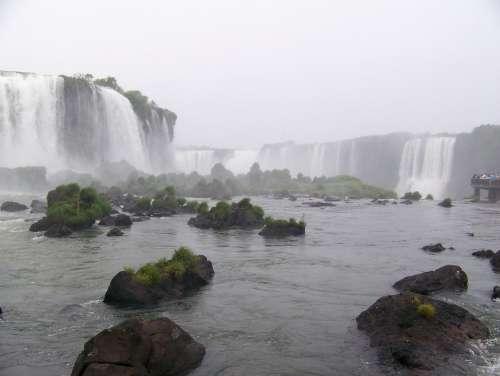 Iguazu Cascade Falls Landscape
