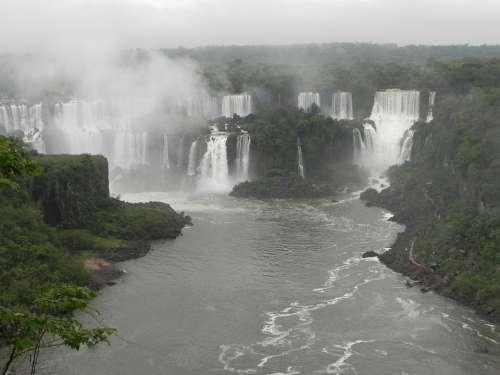 Iguazu Falls Brazil Paraná The Iguaçu River
