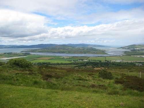 Inch Island Donegal Ireland Countryside Fields