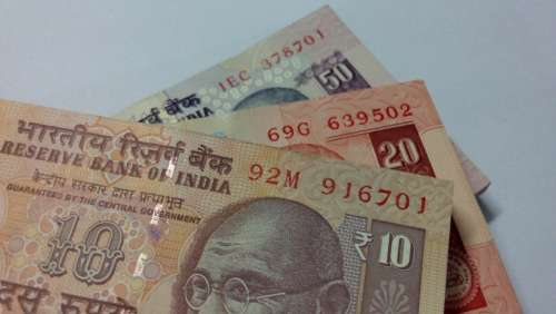 Indian Rupees Rupees Note Payment Fifty Ten