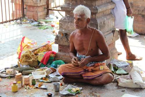 Indians Man Holy Hinduism Tradition Meditation