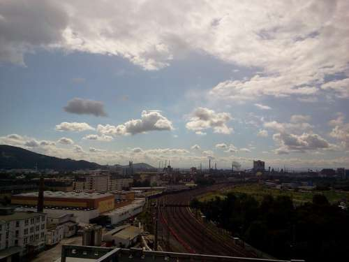 Industry Rails Track Train Traffic