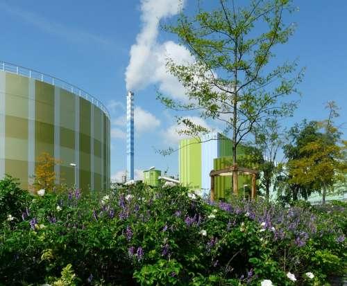 Industry Nature Blue Sky Mainz