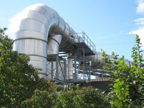 Industry Plant Industrial Plant Chimney High Huge