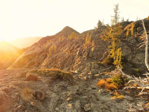Ingalls Pass Sunrise Washington Epic Rocks Hiking