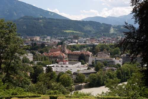 Innsbruck Austria City Town Europe Alps