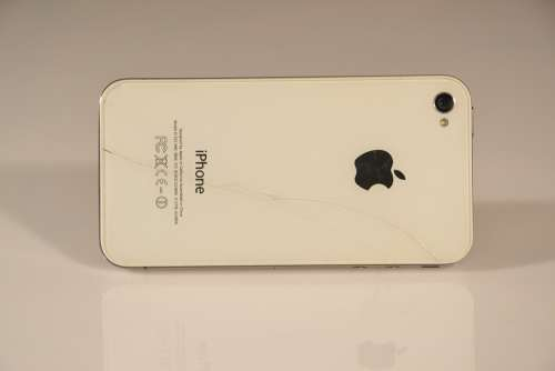 Iphone Iphone 4 Phone White Cell Cellular Phone