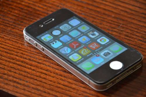 Iphone Iphone 4 Phone Black Cell Cellular Phone