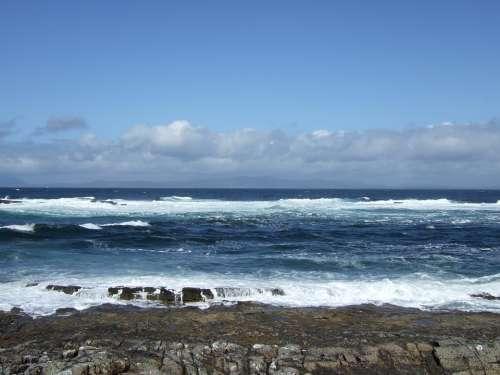 Ireland Sky Sea Wave Water Sunny Surf Coast