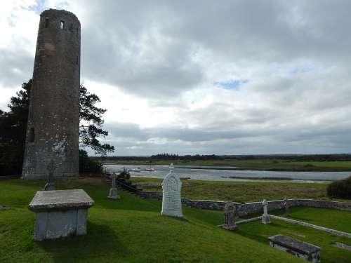 Ireland Crois Horizon Clouds Stone Landscape Sky