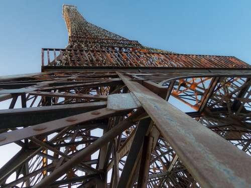 Iron Tower Cast Iron Metal Symbol Construction