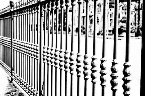 Iron Fence Decoration Land Property Boundaries