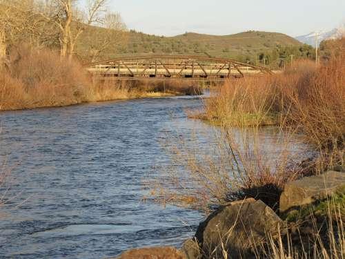 Iron Bridge John Day River Oregon Countryside