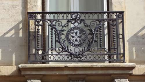 Iron Fence Window Facade