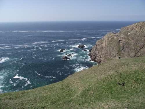 Island Ireland Ocean Sea Water Landscape Blue