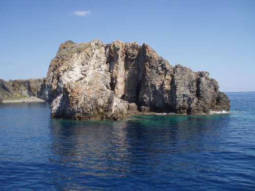 Island Sicily Italy Sea Sky Landscape Scoglio