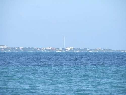 Island Women Sea Cancun Beach Holiday Turquoise
