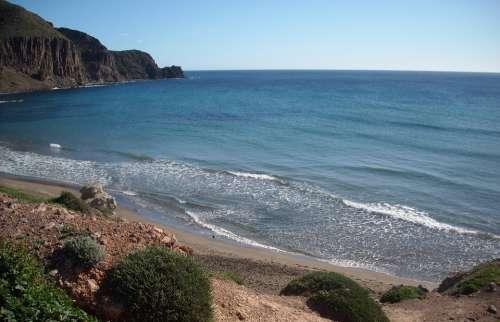 Isleta Del Moro Bay Mediterranean Spain Beach