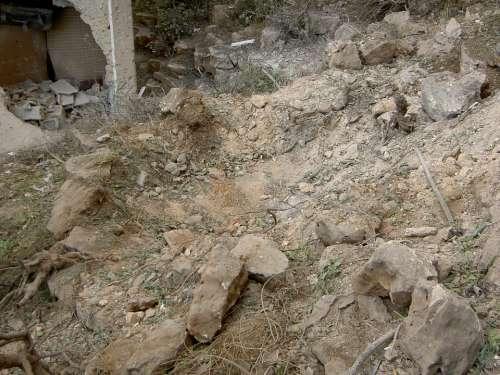 Israel Lebanon War 2006 Bomb Crater