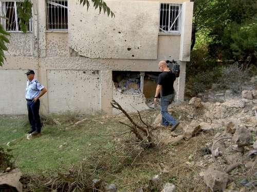 Israel Lebanon War 2006 Bullet Holes Camera Team