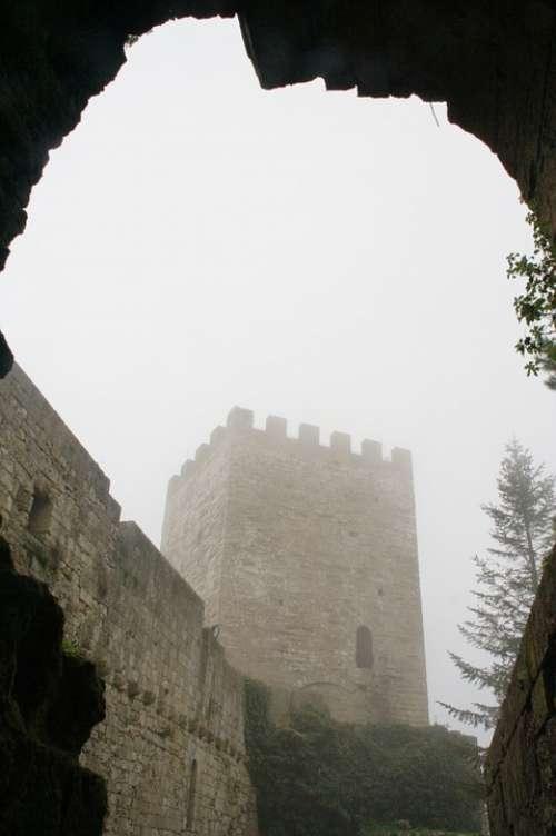 Italy Sicily Enna Winter Fog