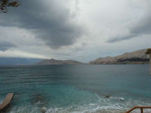 Italy Sea Mood Sky Clouds Water Twilight Baska
