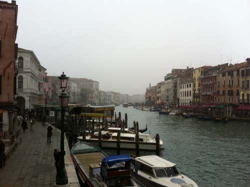 Italy Boats Venice Travel Canal Water Buildings
