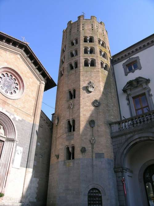 Italy Umbria Orvieto Torre Monument