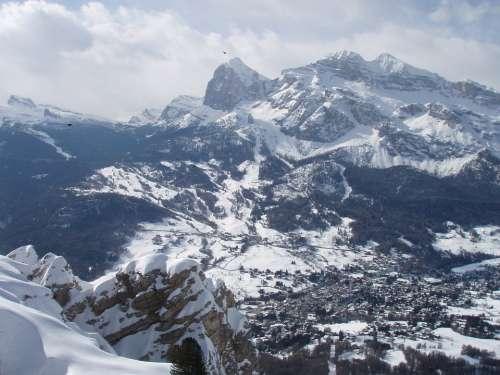Italy Dolomites Snow