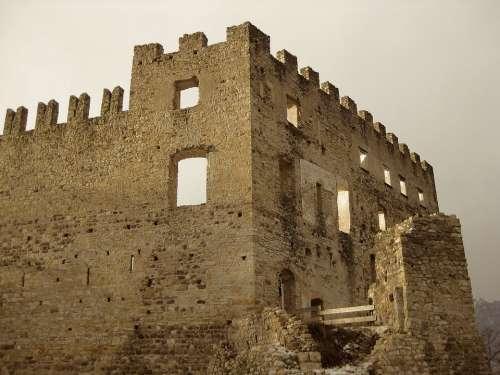 Italy Castle Ruins Ancient Historical Landmark