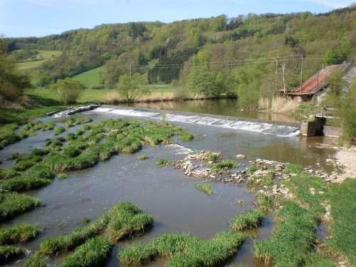 Jagst River Shore Area Nature Landscape
