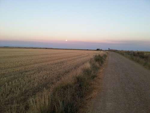 Jakobsweg Camino De Santiago Pilgrimage Sunset