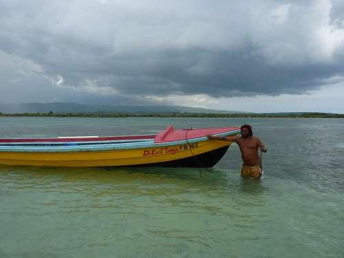 Jamaica Beach Boat