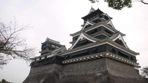 Japan Kumamoto Castle 陰