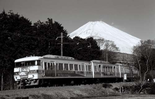 Japan Mt Fugi Mountains Landmark Destinations Snow
