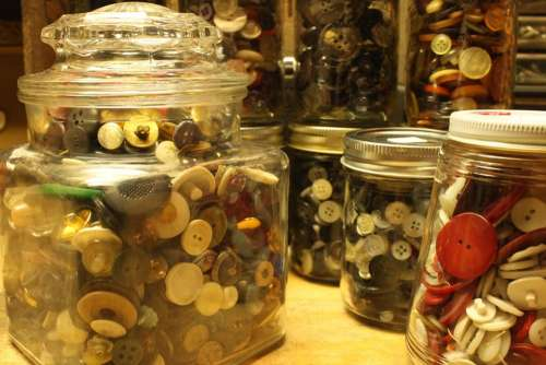 Jars Containers Display Displays Button Buttons