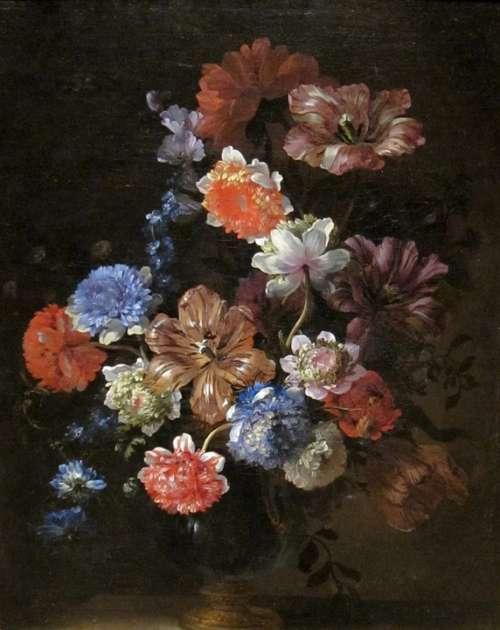 Jean-Baptiste Monnoyer Art Painting Oil On Canvas