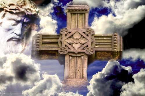 Jesus Clouds Christianity Cross Sign Of The Cross