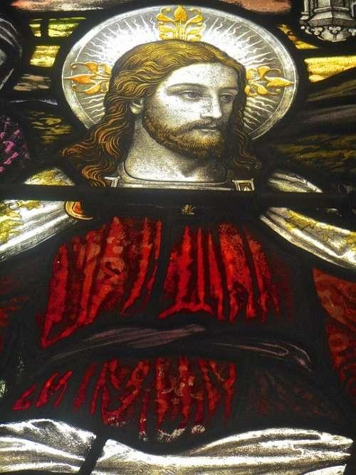 Jesus Christ Glass Art St Johns Church Hyde Park