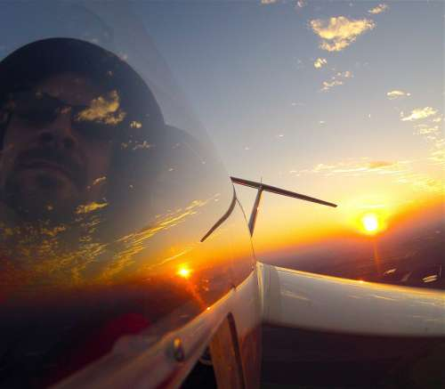 Jet Flight Sunset Sky Fly Aviation Plane Evening