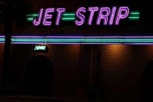 Jet Strip Logo La Club Outside Night
