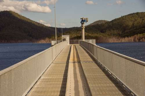 Jetty Water Lake Pier Dam Perspective Queensland