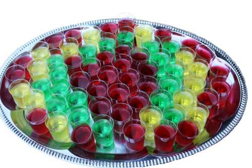 Jitters Glasses Tray Brandy Colorful Isolated