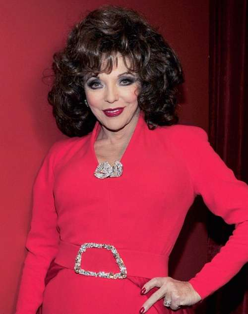 Joan Collins Actress Author Columnist English
