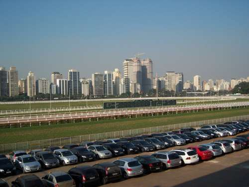 Jockey Club Sao Paulo Skyline Parking Lot Rent A Car