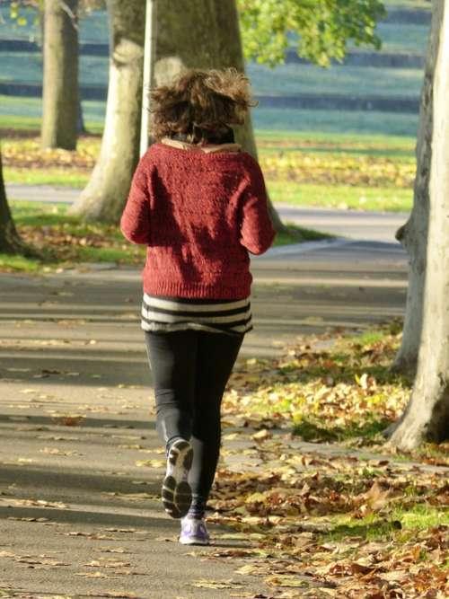 Jog Run Sport Shoes Girl Woman Park Recovery