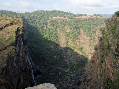 Jog Falls Western Ghats Waterfall Cliff Karnataka